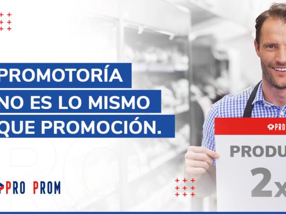 Promotoría no es lo mismo que promoción.